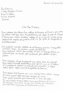 Lettres des jeunes au Pape 1